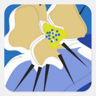 sticker,BLUE PANSY