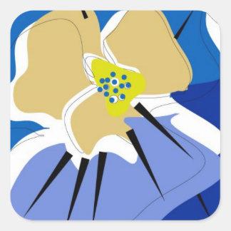 sticker,BLUE PANSY Square Sticker
