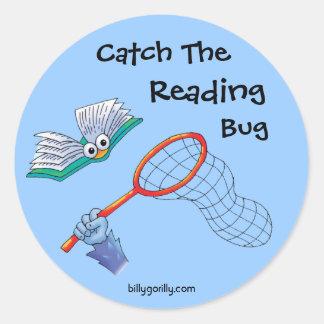 Sticker-Catch The Reading Bug Round Sticker