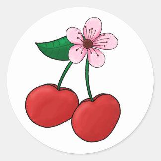 Sticker-Cherry Blossom Round Sticker