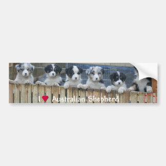 "Sticker conveys ""Australian Shepherd "" Bumper Sticker"