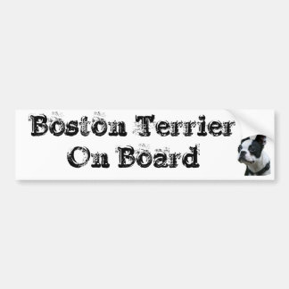 Sticker conveys Boston Terrier One Board