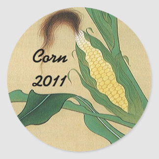 Sticker Corn Silk Ear Home Canning Jar Circles Dot