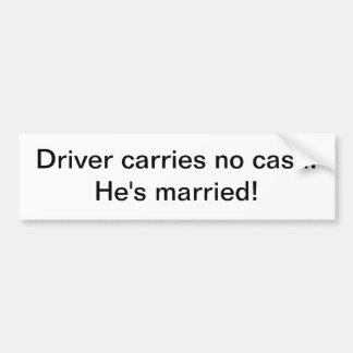 Sticker - Driver carries no cash