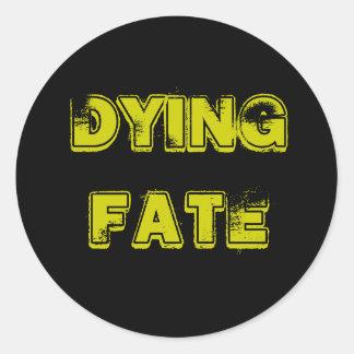 sticker, Dying Fate Round Sticker
