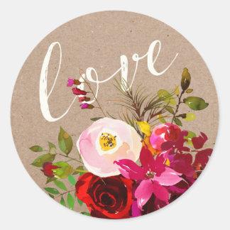STICKER | Elegant Floral Rustic Boho Love Wedding