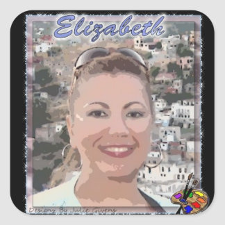 Sticker: Elizabeth Medina-Galleriaofart.com Square Sticker