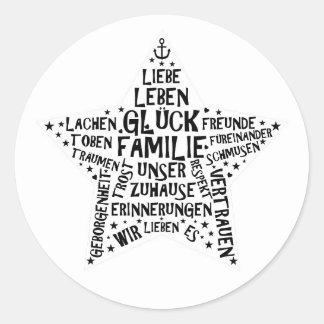 Sticker FAMILY STAR
