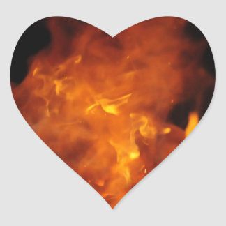sticker - fire heart