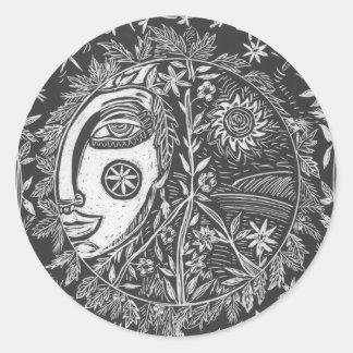 Sticker, Garden Guardian, Art Journal Classic Round Sticker