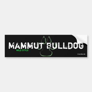 Sticker giant Bulldog Bumper Sticker