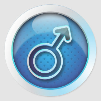 Sticker glossy gender man symbol