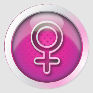 Sticker glossy gender woman symbol