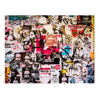 Sticker Graffiti Postcard