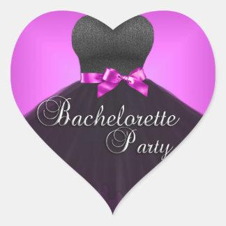Sticker Heart Bachelorette Party Pink Black Dress