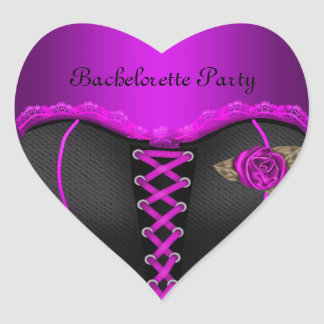 Sticker Heart Bachelorette Party Purple Corset