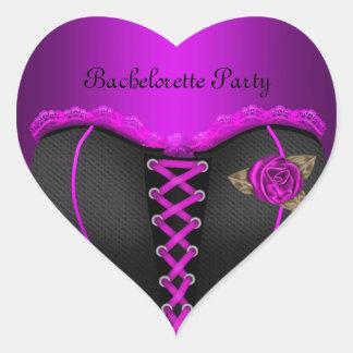 Sticker Heart Bachelorette Party Purple Corset Heart Stickers