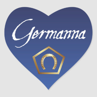 Sticker: I Love Germanna Heart Sticker
