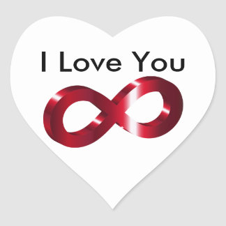 Sticker- I Love you - Infinity Heart Sticker