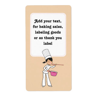 Sticker Label for Baking Sales with Kitchen Art Shipping Label