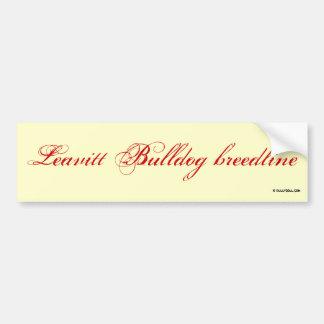 Sticker Leavitt breedline Bumper Stickers