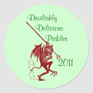 Sticker Little Devil Home Canning Jar Circles