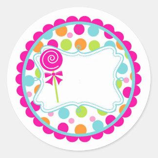 Sticker/Lollipop and Dots Round Sticker