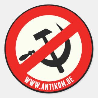 Sticker: NO Communism (round) Classic Round Sticker