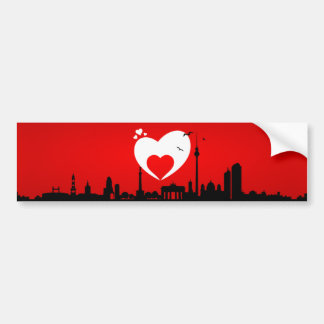 Sticker of skyline Berlin Bumper Sticker