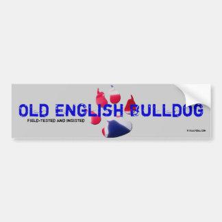 Sticker old English Bulldog Bumper Sticker