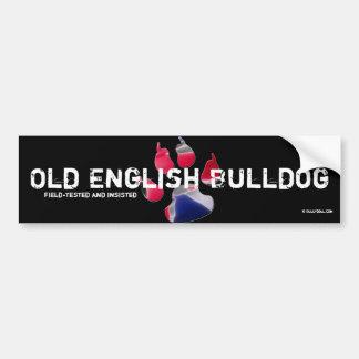 Sticker old English Bulldog Bumper Stickers