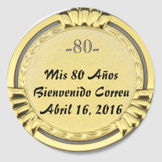 sticker or sticker of medal sea bream birthday