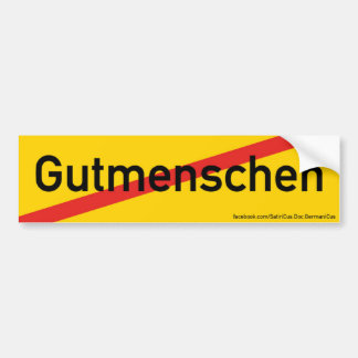 """Sticker: Orts-Ende-Schild: """"Property human being"""" Bumper Sticker"""