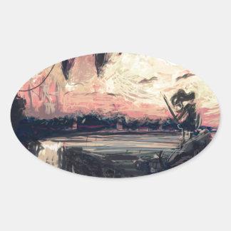 Sticker (Oval) - World In My Eyes by micgurro