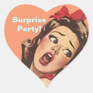 Sticker Pretty Retro Lady Fun Surprise Party Seals
