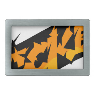 Sticker Rectangular Belt Buckle