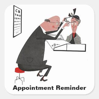 Sticker Retro Appointment Reminder Eye Check Chart
