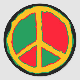 Sticker Retro Freestyle Peace Symbol bold dot