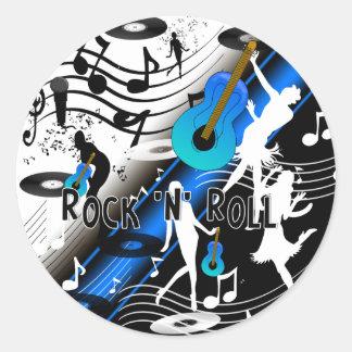 Sticker Retro Rock 'N' Roll Music Rocks Me