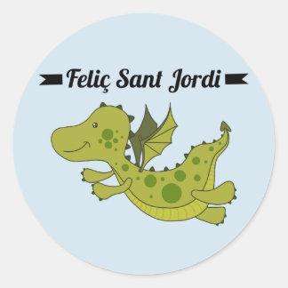 Sticker, Rodona Feliç Sant Jordi Classic Round Sticker