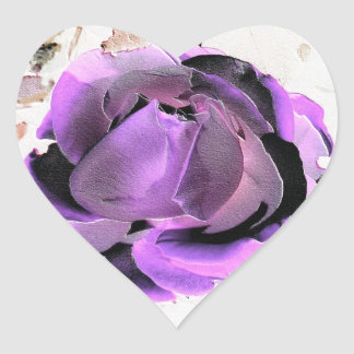 Sticker rose purple
