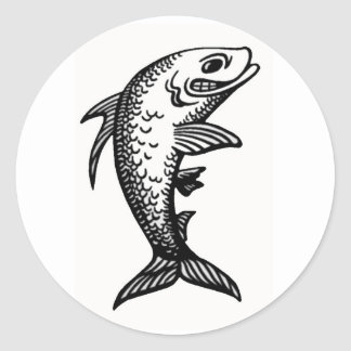 "Sticker Round Glossy - ""Fish Speech"""