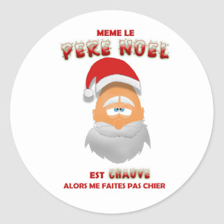 Sticker - Same the Father Christmas is bald person