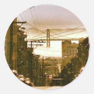 Sticker: San Francisco Bay Morning Classic Round Sticker