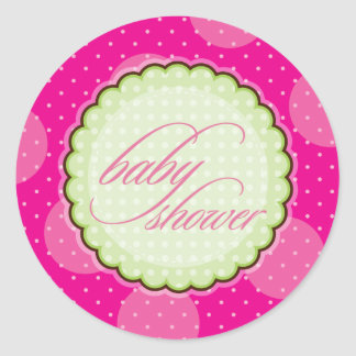 STICKER / SEAL :: baby shower - bright