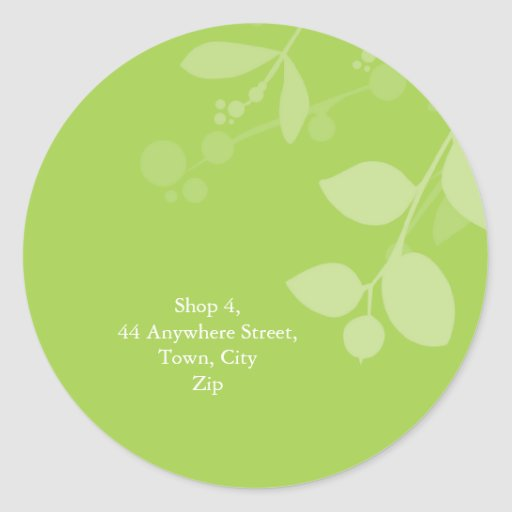 STICKER SEAL :: gum foliage 6