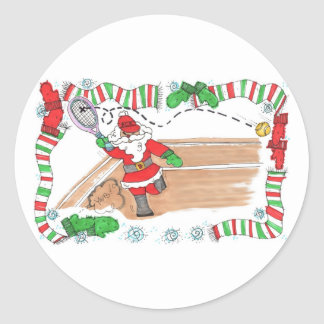Sticker Sheet -Santa On Court
