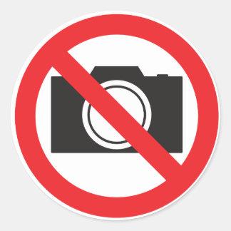 Sticker-Sign No camera Allowed Round Sticker
