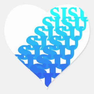 Sticker SISU resonates blues Heart Finnish People