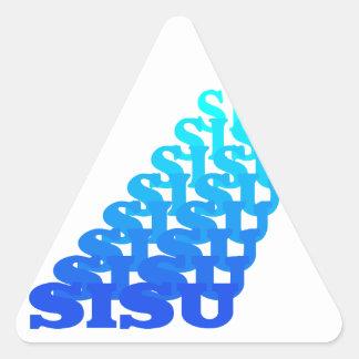 Sticker SISU resonates blues Spirit Finnish People